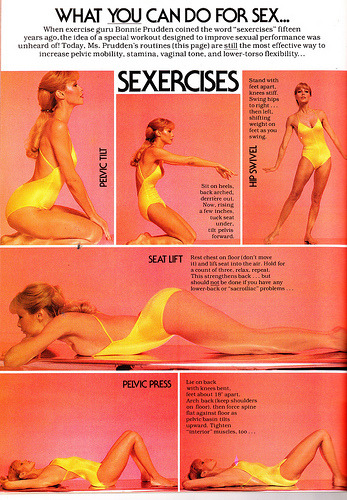 becauseiamawoman:  sexismandthecity:  Cosmopolitan (Feb 1977)    YOU GUYS ITS SEXERCISES!  Yesss…