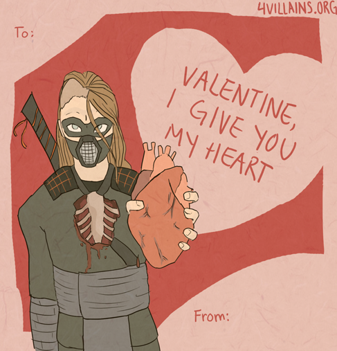 Wish your valentine's villain a villainous Valentine's with a Villaintine!