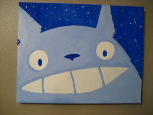 asheroo:  Look what my husband painted me for Valentines Day! IT'S THE BEST.  I think it's about time to watch some ghibli films!!