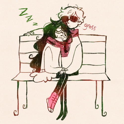 kaymurph:  otp week #7 - dave and jade jade youre drooling stop