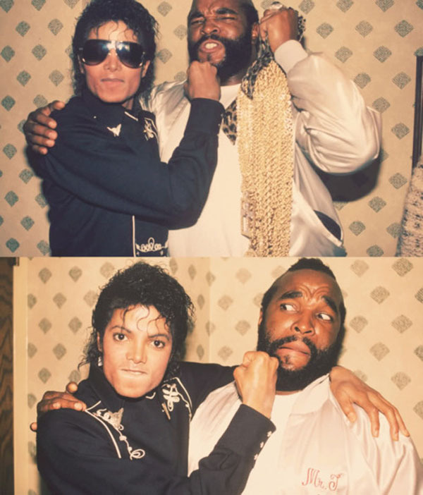 Michael Jackson kicking the crap out of Mr. T.