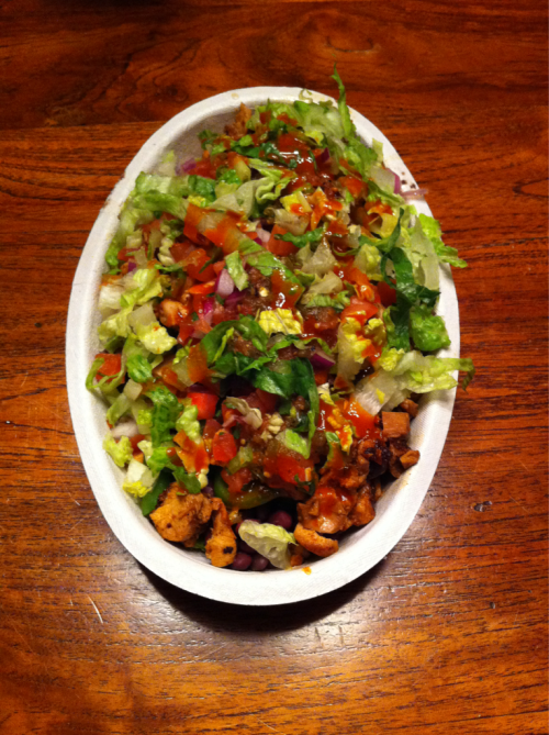 Yummy chicken bowl from Chipotle!