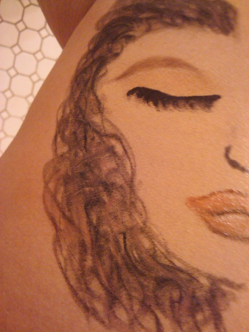 My Make-Up Drawing. I did this a LONG time ago with eyeliner, eyeshadow, and lip gloss . Pretty neat huh ?! Haha