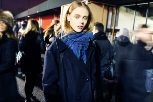 bluegarcon:  Frida Gustavsson after Alexander Wang by me.