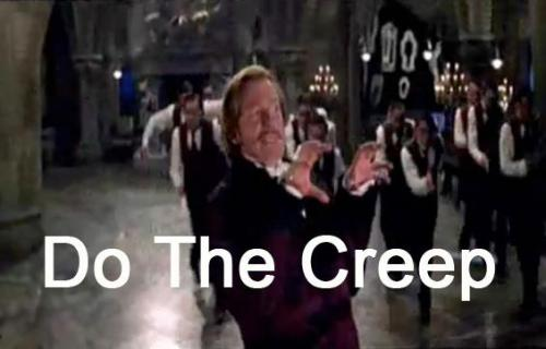Do the creep ahhh! Do the creep ahhh! … Get your arms T-Rexin. Do the creep ahhh!
