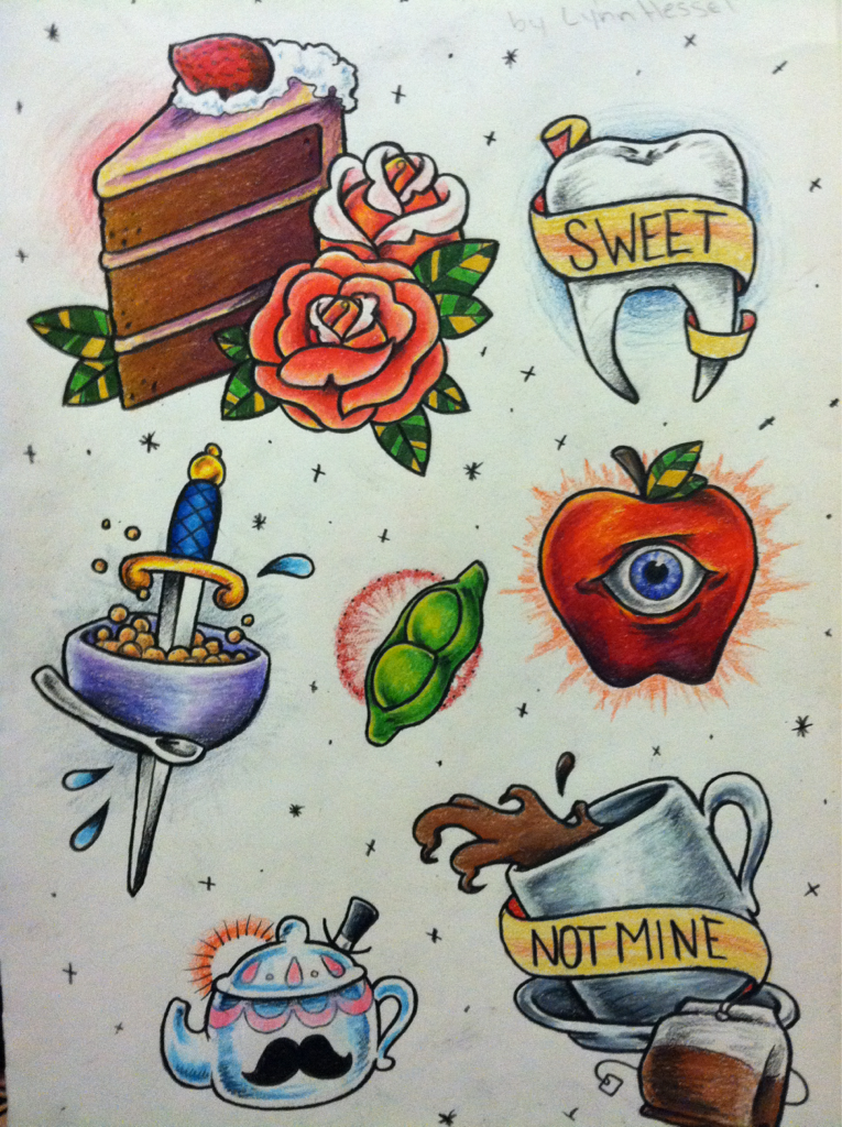 Iiiiiiii should paint these… Food word play flash sheet I whipped out.