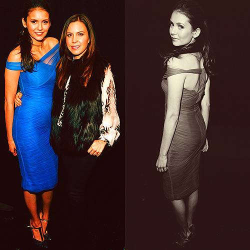 Nina Dobrev and Monique Lhuillier|Monique Lhuillier Fashion Show