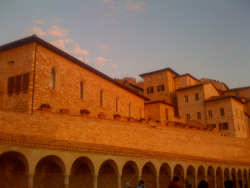 Assisi. I will never forget singing in the Basilica with our friends, and our dear Father! An entirely mystical day!!!!
