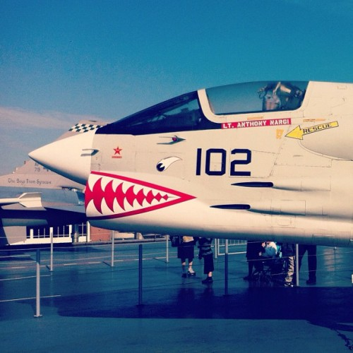 This jet was clearly looking for a fight. (Taken with Instagram at Intrepid Sea, Air & Space Museum)