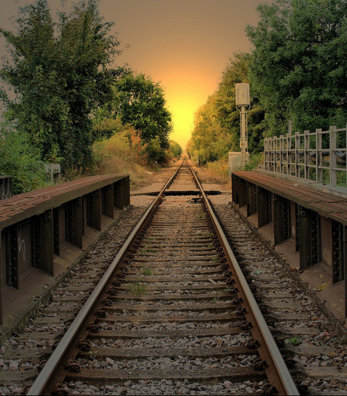 Sunset Rails, Rye, England photo by patricia