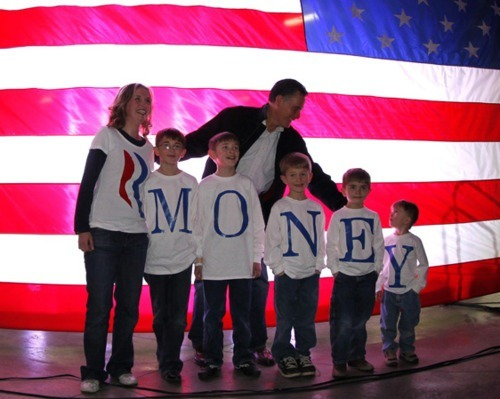 "awidesetvagina:   ""Romney's family misspell their last name in the greatest Freudian slip in history."""