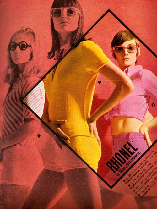 60s advertisement for Rhonel jersey fabrics (via: theswingingsixties)