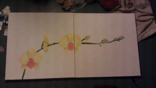 New painting I'm working on for my mama (: