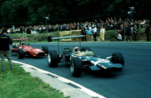 Jo Siffert & Chris Amon at the 1968 British Grand Prix