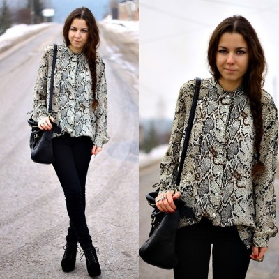 lookbookdotnu:  Snake shirt (by Paulina Rutkowska)