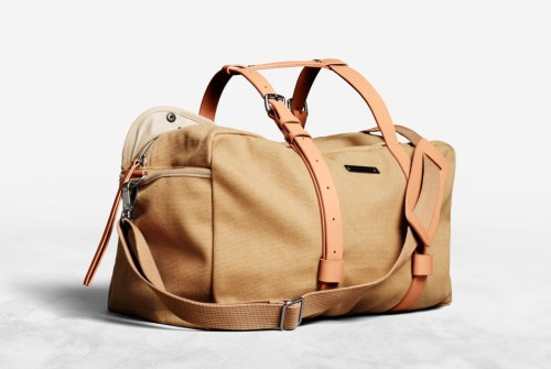 ACNE - Everest Tan S/S 2012 Bag  Acne Everest is a canvas shoulder bag with fixed leather straps at the sides and plenty of sporty details.