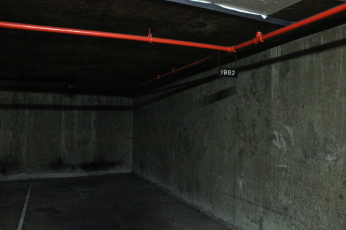 barbicancinema:  A lovely photo of car park space 1982, which sits underneath where the new cinemas are being built. 1982 was the year the Barbican Centre was built.