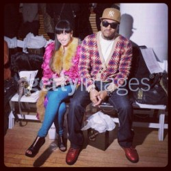 Myself with the lovely Baiyu front row at a show during #NYFW #ILovethis (Taken with instagram)
