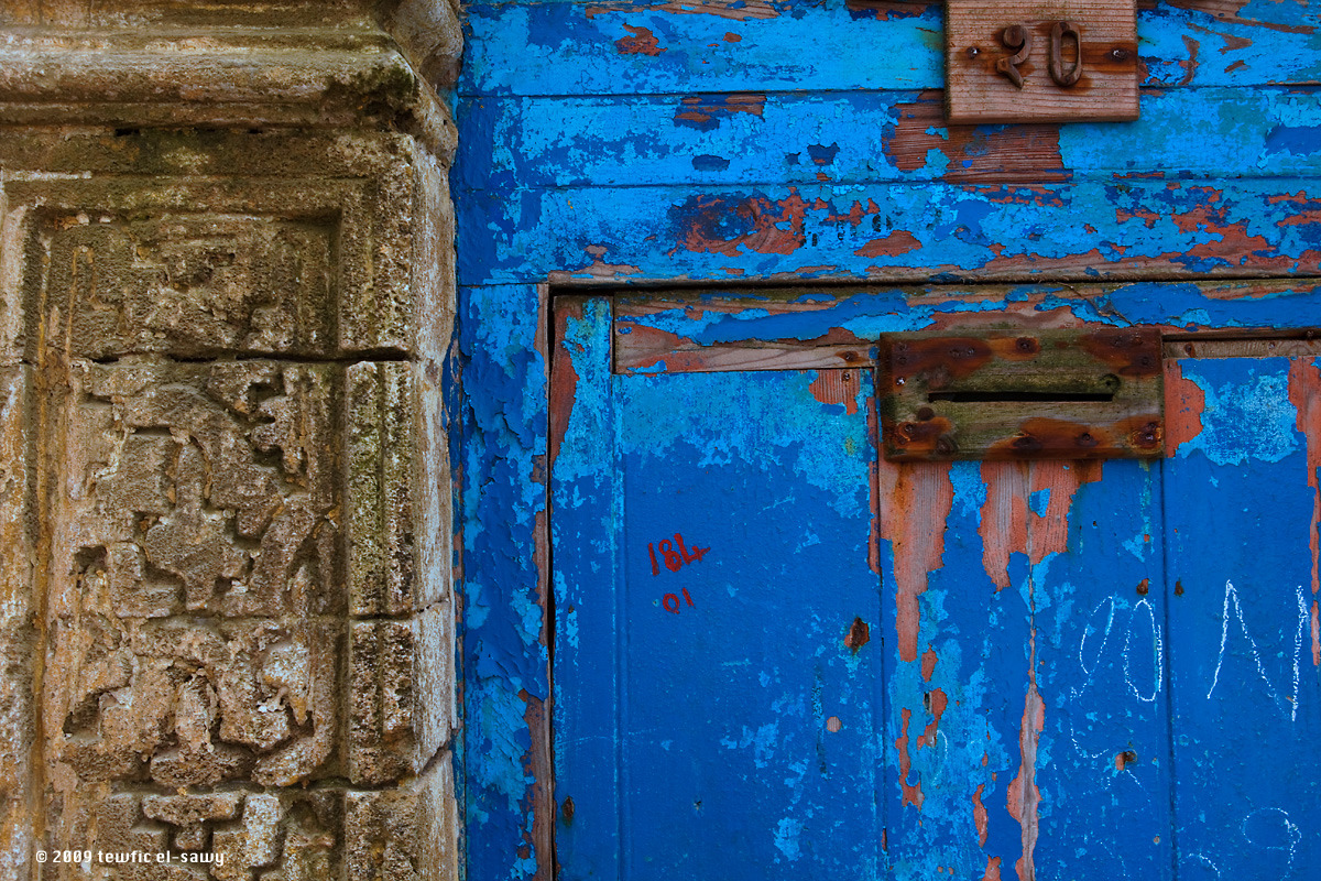 Blue Door & Wall, Essaouira (Morocco). Photo © Tewfic El-Sawy