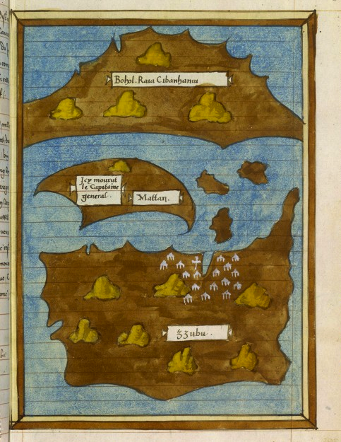 "zerothreetwo:  pupuplatter:  ""Iles Bohol, Cebu et Mactan,"" ca. 1525-1550, Bibliothèque Nationale de France.  Old map from Bibliothèque Nationale de France of Bohol, Cebu and Mactan or should I say… Bohol, Mattan, et Zzubu?"