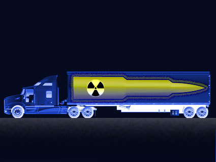 motherjones:  Nuclear Truckers: Warheads on 18 Wheels Big rigs with bombs are secretly cruising the interstate near you. But how safe are they from terrorists or accidents? To find out, we sent Adam Weinstein to investigate…and haul ass after one on a long stretch of South Carolina lowcountry highway. YEEHAW. (Plus, later today, we'll share the list of headlines for this story that we rejected. They're oh so good. And bad.)  Creepy!!!!