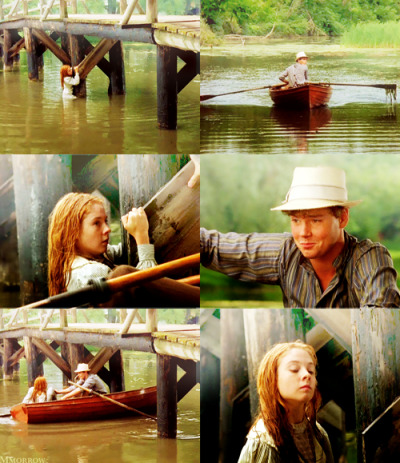 mmorrow:  Gilbert: Anne Shirley. What in heck are you doing? Anne: Fishing for lake trout. Gilbert: …For lake trout. Ah.  Anne of Green Gables (1985)