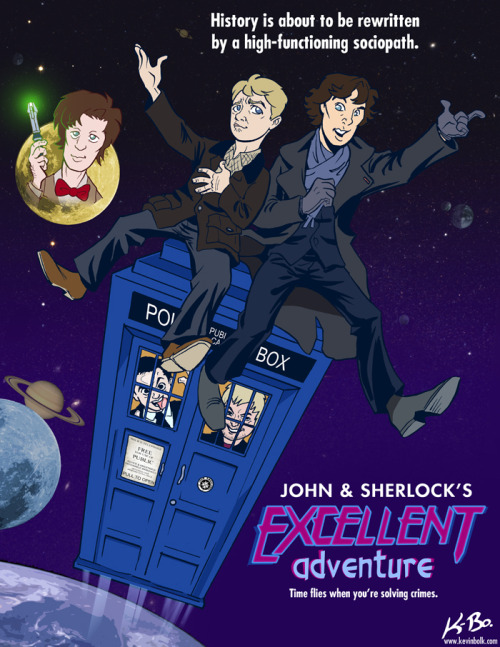 This… is a giant bowl of win. John and Sherlock's Excellent Adventure by *kevinbolk