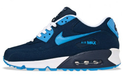 Nike Air Max 90 Canvas | Obsidian / University Blue @eukicks