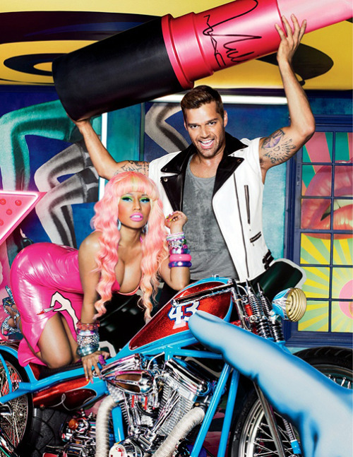 kittydoom:  Nicki Minaj and Ricky Martin for MAC Viva Glam 2012