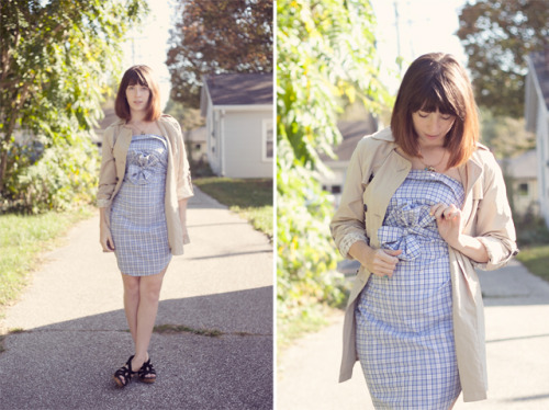Turn a men's shirt into a dress without cutting or sewing via Oh The Lovely Things