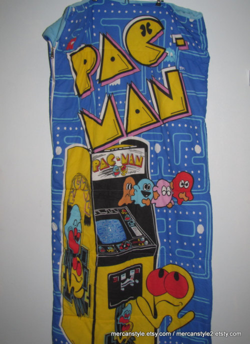 Vintage Pac Man Sleeping Bag