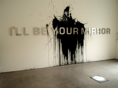 """i'll be your mirror"" by aldo chaparro"