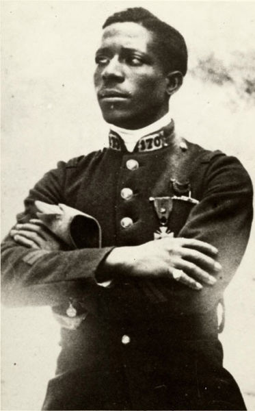 the-seed-of-europe:  Eugene Jacques Bullard (9 October 1894 – 12 October 1961) was one of the only two black military pilots in World War I and warded the Croix de Guerre and the Legion of Honor. Born in Columbus, Georgia, he traveled to Paris and decided to stay at the outbreak of the war in 1914, enlisting for service with the French Foreign Legion. It was at Verdun in 1916 that he was wounded while flying with the Lafayette Flying Corps and awarded the Croix de Guerre for his service. When the US entered the war, it convened a medical board to enlist Americans serving with the Lafayette. Though Bullard passed his medical examination, he was denied enlistment because blacks were barred from flying US planes.  Bullard was discharged from the French Air Force for fighting with an officer, but continued to fight in the French infantry until the Armistice. After the end of the war, Bullard remained in Paris working at nightclubs, and eventually opened his own, befriending many American celebrities that congregated in Paris, such as Josephine Baker, Langston Hughes and Louis Armstrong. During WWII, Bullard, fluent in German, served the French by spying on Germans who frequented his club. However, after the invasion of France, Bullard fled with his family first to the south of France, where he fought with the Resistance on Orléans and was seriously wounded in the spine, then Spain and eventually returned to the US in 1940. Bullard never fully recovered from his injury, and what's more, in the US he was faced with the fact that the fame and respect he enjoyed in France was not to follow him back to his homeland. He earned a living through various odd jobs - as a perfume salesman, a security guard and an interpreter for Louis Armstrong - but his health problems serious restricted his activities. In 1949, Bullard participated and was beaten in the Peekskill Riots at a benefit concert for the Civil Rights Congress. By the 1950s, few people knew anything of who Bullard was in his own home country despite the famous friendships he had once enjoyed and his 15 French medals. He was made a chevaliér of the Legion of Honor in 1959, but died in poverty and obscurity in New York in 1961 of stomach cancer. He was buried with military honors by French officers in the French War Veterans' section of Flushing Cemetery in the Queens, NY. (Source.)  BABE.
