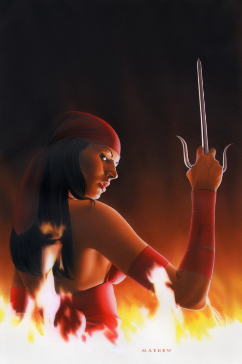 epicwomen:  Elektra by Mike Mayhew.