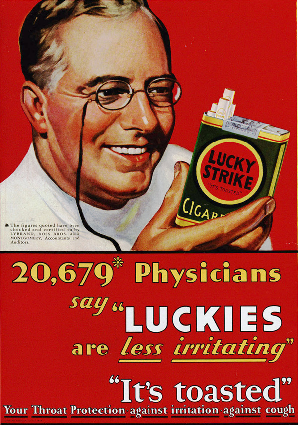 ivelostmyselftnite:  lucky strike ad! people who watch Mad Men might get this.  hahahaha