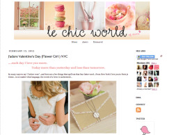 flowergirlnyc:    j'adore le chic world we were so excited to be featured in a special love day post on le chic world yesterday…we agree with her, it's hard not to have a love affair with  flowers this time of year!  check it out & while you're there, be  sure to peek at her other posts for adventures in fashion, travel, and  beauty!
