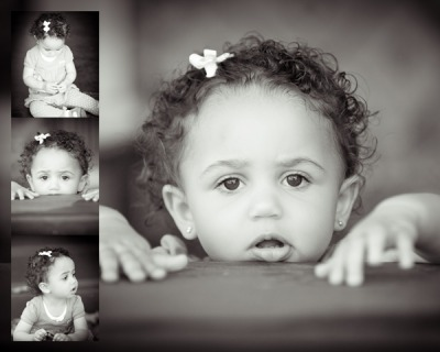 Gia Belen, almost 14 months old.  She is our absolute joy. And her mama's favorite muse.