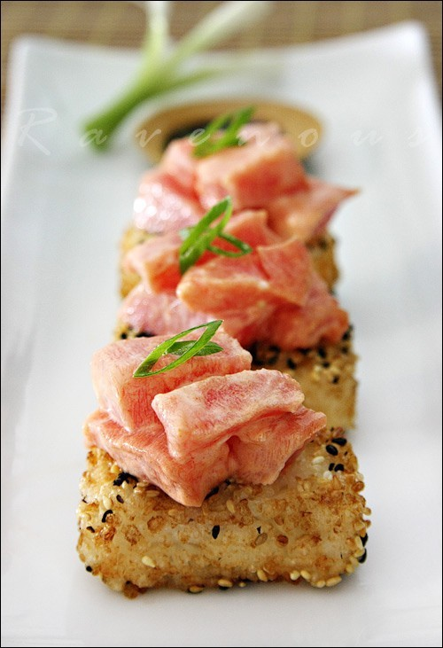 squaremeal:  via summer menu / Spicy Tuna on Crispy Rice