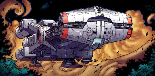 exonauts:  A comic book rendering of the Tantive IV.