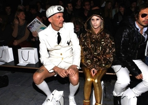 cheatsheet:  Die Antwoord hit up New York Fashion Week. What is Die Antwoord? (Getty Images / Mark Von Holden, via Buzzfeed)  obsessed.