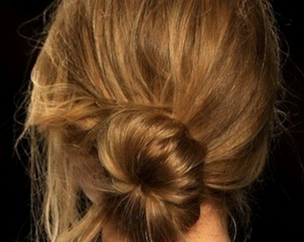 makeupdotcom:  Obsessed with this sexy, messy side bun from the Rebecca Minkoff show—it's a lazy girl's dream come true! Here's how to recreate it. Definitely going to be a summer go-to.