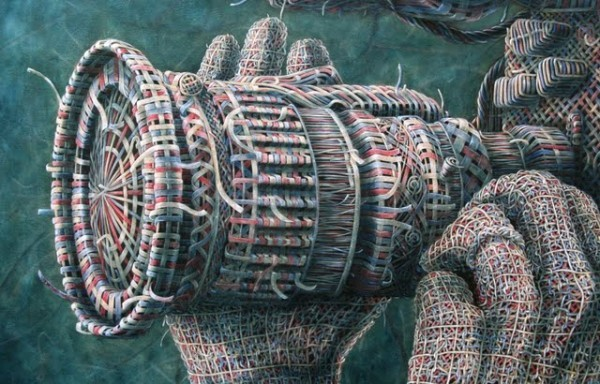The Woven Oil Paintings of Alexi Torres