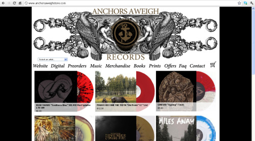 anchorsaweighrecords:  Our new store is finally up now at www.anchorsaweighstore.comto celebrate almost everything 50 BLOODY % OFF   new website coming soon as well !  Go pick up the Anchors Aweigh version of Dungeness for 50% cheaper, and while you're there, swipe a load of other amazing records from our favourite Mediterraneans!!!