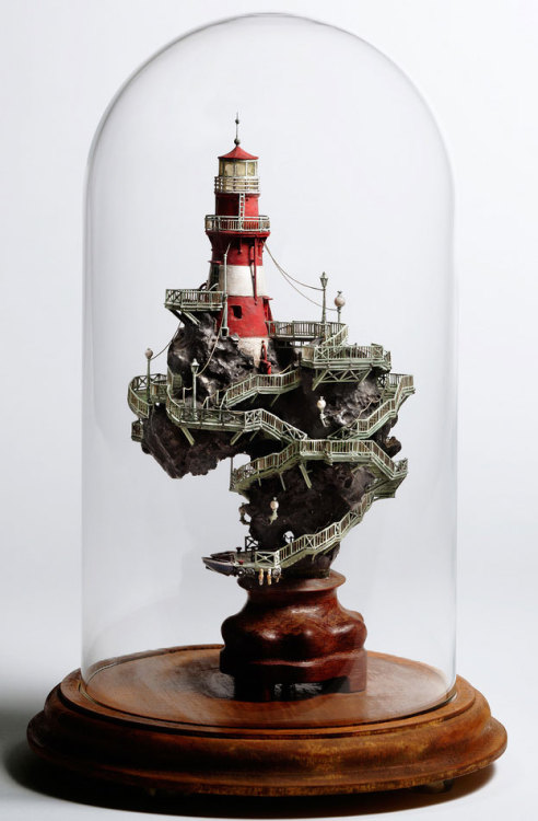 laughingsquid:  Incredibly Elaborate Tiny Building Sculptures by Takanori Aiba  Underneath the awesomeness it kind of resembles Africa. Look at the shape of it