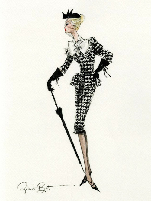 "Design sketch for ""Walking Suit"" Barbie by Robert Best"