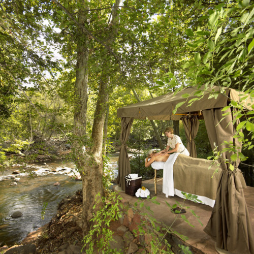 CreekSide Massage at L'Auberge de Sedona….can't wait for Spring!