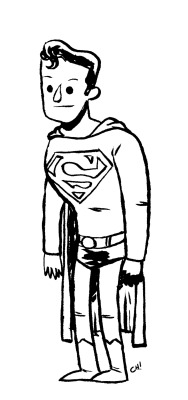 Here I have drawn SUPERMAN for you to color! Sometimes even Superman runs out of things to do and has to just stand around for a few minutes waiting for something interesting to happen. You can print this out and color it with crayons or on the computer all fancy like if that's your thing. Either way is totally fine with me, just be sure to let me know how it turns out by giving me a shout on Twitter or dropping it in the Submissions Box! As always, sharing is caring, so if you like this or think other people you know might like to color it, reblog it or print it out and give it to them. xoch