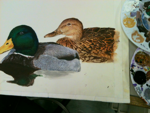 lennontits:  My duck painting for school.
