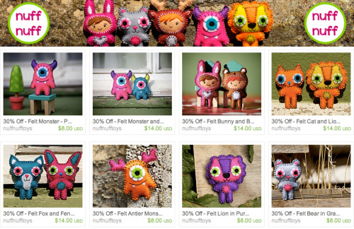 My Etsy shop is having a clearance sale, and some of my pocket plushies are 30% off! Get one for yourself! NuffNuff