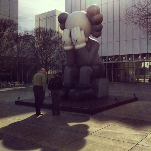 Downtown with KAWS.  (Taken with instagram)
